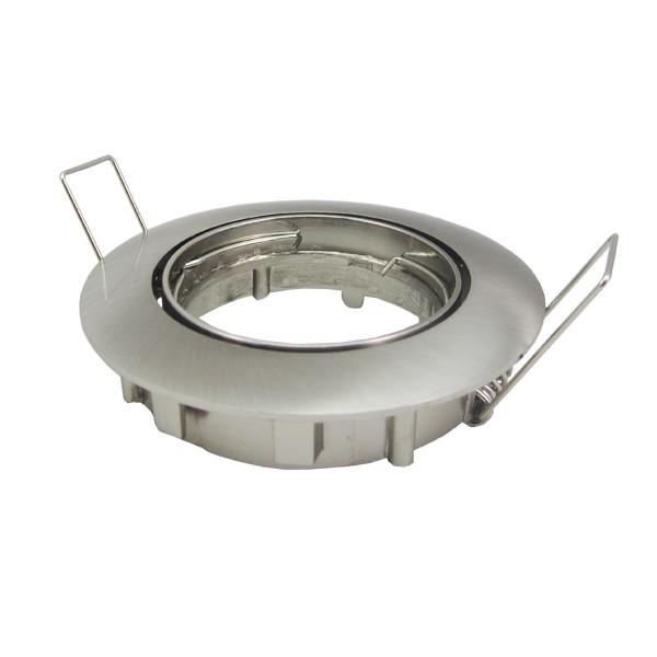 Support rond orientable acier brossé