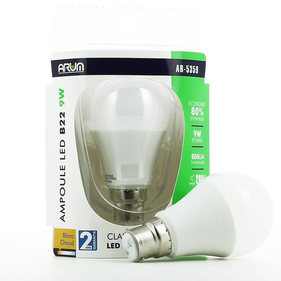 Ampoule LED B22 9W